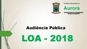 Prefeitura Municipal de Aurora SECRETARIA MUNICIPAL DE ADMINISTRAO