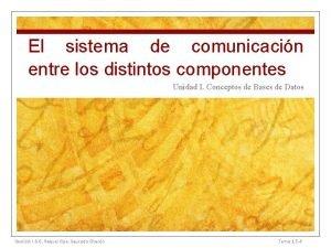 El sistema de comunicacin entre los distintos componentes