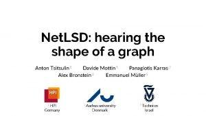 Net LSD hearing the shape of a graph