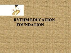 RYTHM EDUCATION FOUNDATION REGISTRATION CERTIFICATE RYTHM EDUCATION FOUNDATION