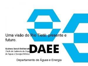 Uma viso do Rio Tiet presente e futuro