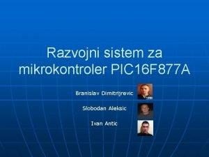 Razvojni sistem za mikrokontroler PIC 16 F 877