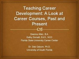 Teaching Career Development A Look at Career Courses