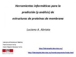 Herramientas informticas para la prediccin y anlisis de