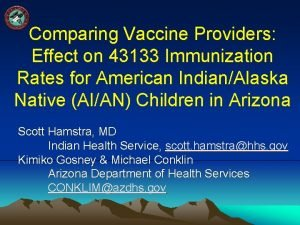 Comparing Vaccine Providers Effect on 43133 Immunization Rates