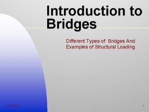 Introduction to Bridges Different Types of Bridges And