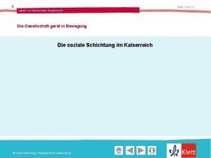 1 Folie 1 von 11 Leben im Deutschen