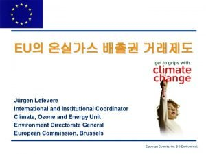 EU Jrgen Lefevere International and Institutional Coordinator Climate