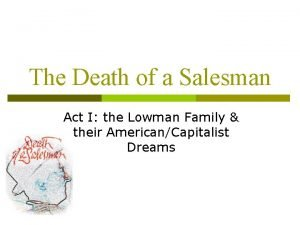 The Death of a Salesman Act I the