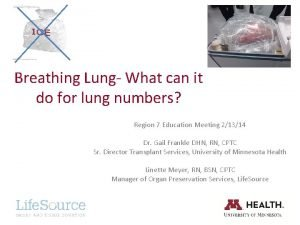 Breathing Lung What can it do for lung