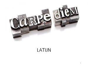 LATIJN 1 Quiz Latijnse woorden 1 WAT BETEKENT