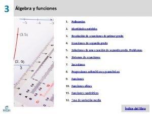 3 lgebra y funciones 1 Polinomios 2 Identidades