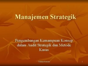 Manajemen Strategik Pengembangan Kemampuan Konsep dalam Audit Strategik