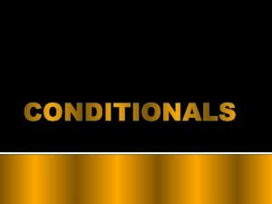 Real Condition Things that usually or always happen