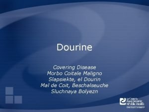 Dourine Covering Disease Morbo Coitale Maligno Slapsiekte el