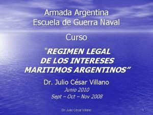 Armada Argentina Escuela de Guerra Naval Curso REGIMEN