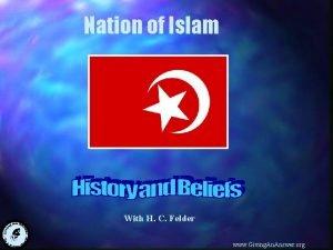 Nation of Islam With H C Felder www