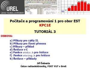 Potae a programovn 1 pro obor EST KPC