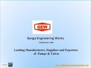 Ganga Engineering Works Coimbatore India Leading Manufacturers Suppliers