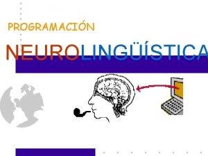 PROGRAMACIN NEUROLINGSTICA Objetivo Proporcionar al participante una herramienta