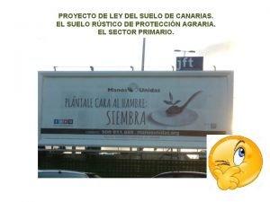 PROYECTO DE LEY DEL SUELO DE CANARIAS EL