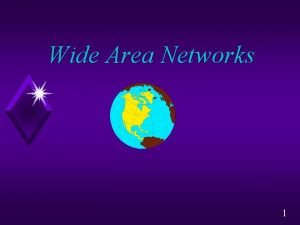 Wide Area Networks 1 Wide Area Networks WANs
