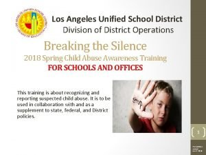 Los Angeles Unified School District Division of District