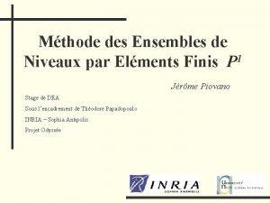 Mthode des Ensembles de Niveaux par Elments Finis
