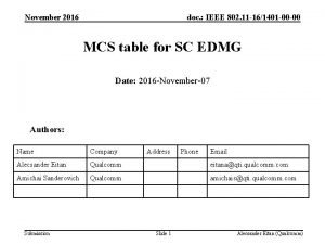 November 2016 doc IEEE 802 11 161401 00