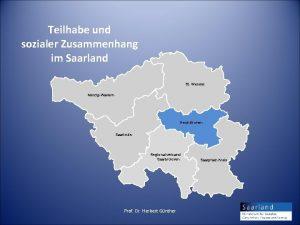Teilhabe und sozialer Zusammenhang im Saarland St Wendel