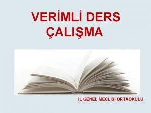 VERML DERS ALIMA L GENEL MECLISI ORTAOKULU VERML