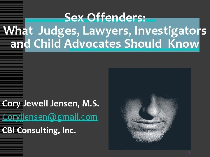 Sex Offenders What Judges Lawyers Investigators and Child