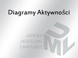 Diagramy Aktywnoci Rodzaje diagramw stosowanych w UML Diagramy