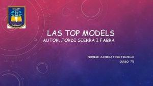 LAS TOP MODELS AUTOR JORDI SIERRA I FABRA