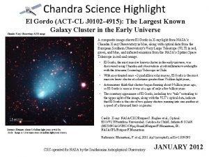 Chandra Science Highlight El Gordo ACTCL J 0102