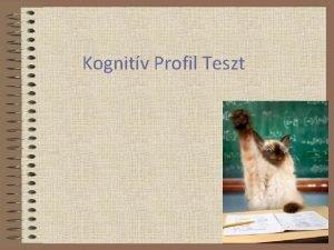 Kognitv Profil Teszt Kognitv Profil Teszt 1 Sorozat
