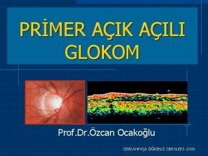 PRMER AIK AILI GLOKOM Prof Dr zcan Ocakolu