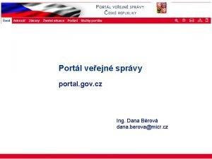 ISSS 2003 Portl veejn sprvy portal gov cz