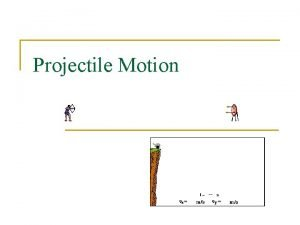 Projectile Motion What is projectile Projectile Any object
