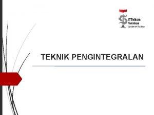 TEKNIK PENGINTEGRALAN 2 9 1 Integral Parsial Formula