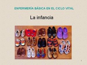 ENFERMERA BSICA EN EL CICLO VITAL La infancia