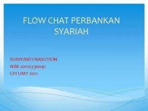 FLOW CHAT PERBANKAN SYARIAH SURIYANTI NASUTION NIM 20110730041