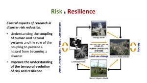 Risk Resilience Central aspects of research in disaster