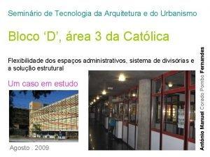 Seminrio de Tecnologia da Arquitetura e do Urbanismo