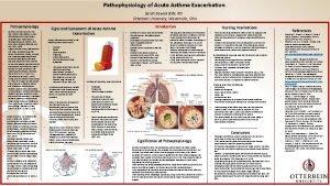 Pathophysiology of Acute Asthma Exacerbation Sarah Elswick BSN