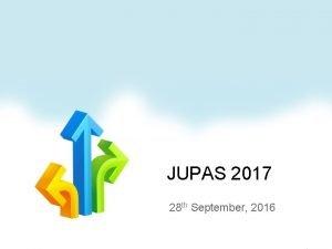 JUPAS 2017 28 th September 2016 Rundown Message