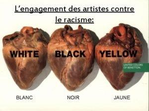 Lengagement des artistes contre le racisme BLANC NOIR