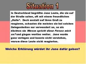 In Deutschland begrte Jane Leute die sie auf