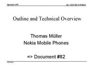 September 1999 doc IEEE 802 15 99082 r