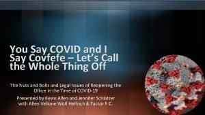 You Say COVID and I Say Covfefe Lets